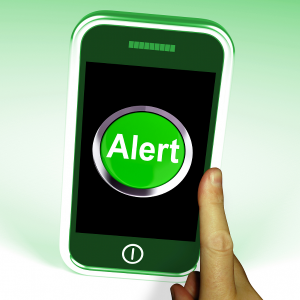 Alerts on a smartphone for creating traveler awareness